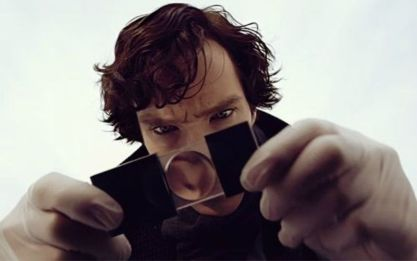 Image result for sherlock holmes magnifying glass gif