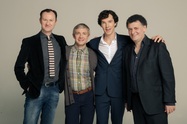 Mark-Gatiss-Martin-Freeman-Benedict-Cumberbatch-and-Steven-Moffat-sherlock-37378096-1280-853