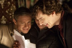 Ben and Martin have a laugh while reading the latest script (no offence Steven and Mark!)