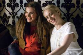 Louise Brealey and Amanda Abbington laugh it up on set