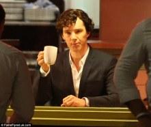 Ben enjoys a damn fine coffee