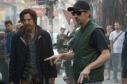 Marvel's DOCTOR STRANGE L to R: Benedict Cumberbatch (Doctor Stephen Strange) and Director Scott Derrickson on set. Photo Credit: Jay Maidment ©2016 Marvel. All Rights Reserved.