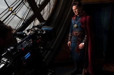 Marvel's DOCTOR STRANGE Benedict Cumberbatch (Doctor Strange) on set. Photo Credit: Jay Maidment ©2016 Marvel. All Rights Reserved.